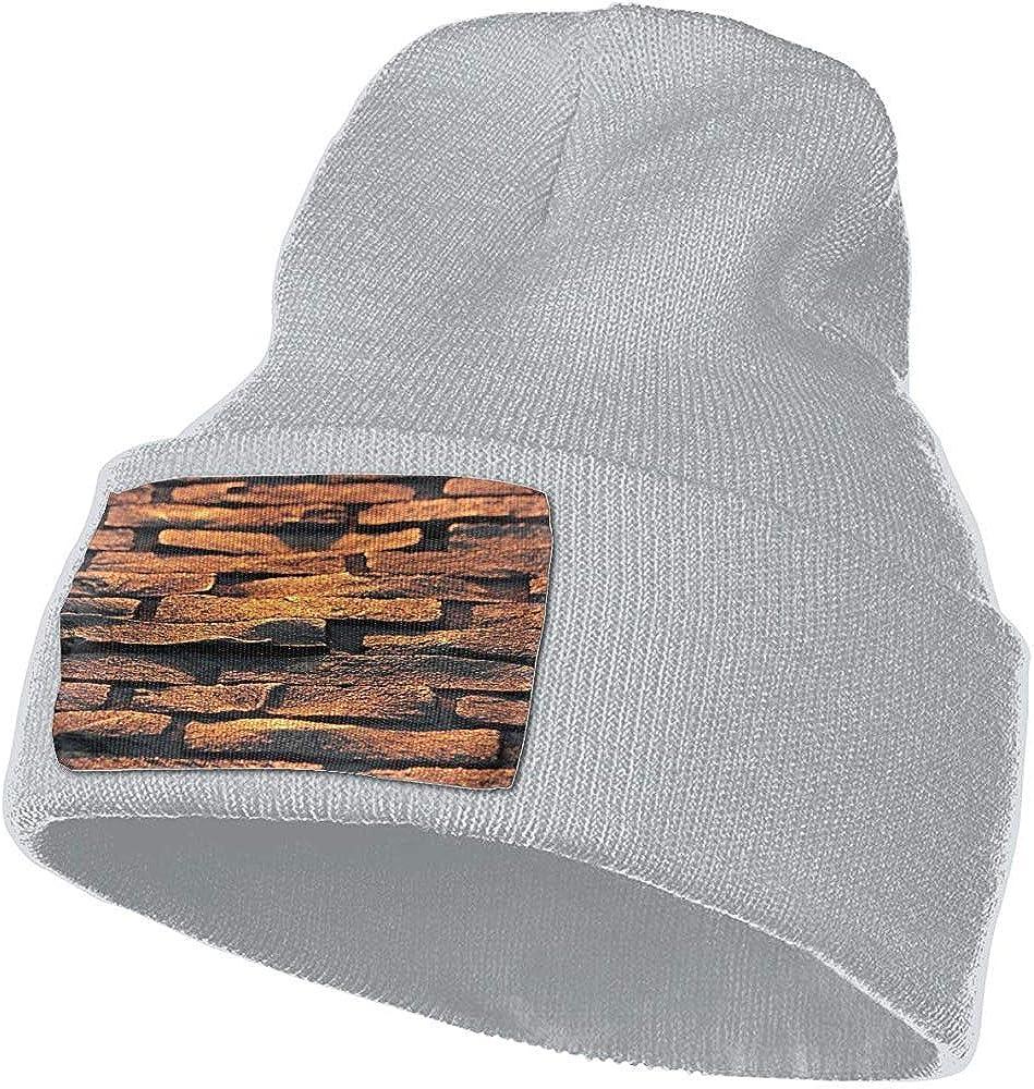 Sombreros Beanie Adoquines Piedras Textura de la Carretera Estiramiento cálido Unisex Cráneo Esquí Gorro de Punto Sombrero