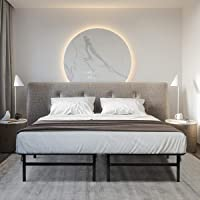 Giantex Platform Metal Bed Frame Mattress Foundation 5 Size Box Springs Storage