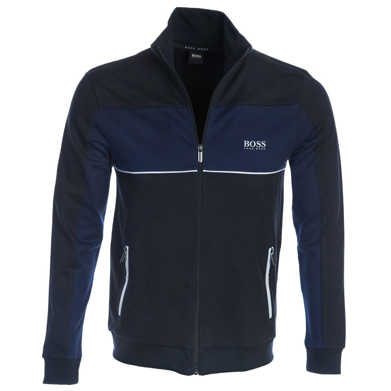 Boss Tracksuit Jacket Zip Sweat Top In Navy XL by Hugo Boss