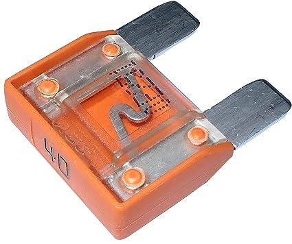 Aerzetix C10065 Sicherung Groß Orange Maxi 40a 6v 12v 24v 32v 29mm Für Auto Lkw Dienstprogramm Auto