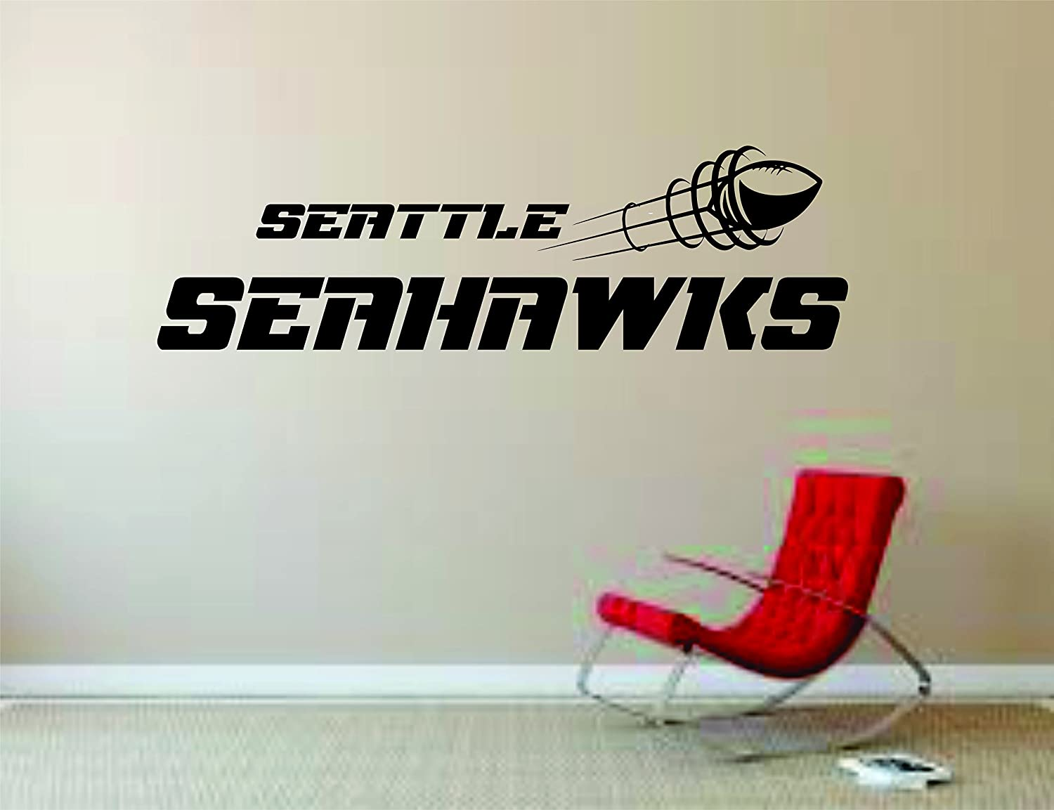 Amazon com seattle seahawks wall mural vinyl decal sticker decor nfl football rugby logo home kitchen