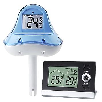Gain Express - Termómetro digital inalámbrico para piscina, flotante, 10-60 ℃,