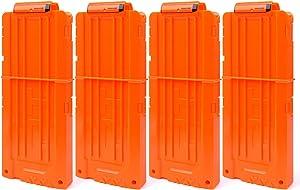 FUCAS Soft Bullet 4pcs Clips 12 Bullets Dart Gun Clips Magazine Clip for Nerf Toy Dart Gun