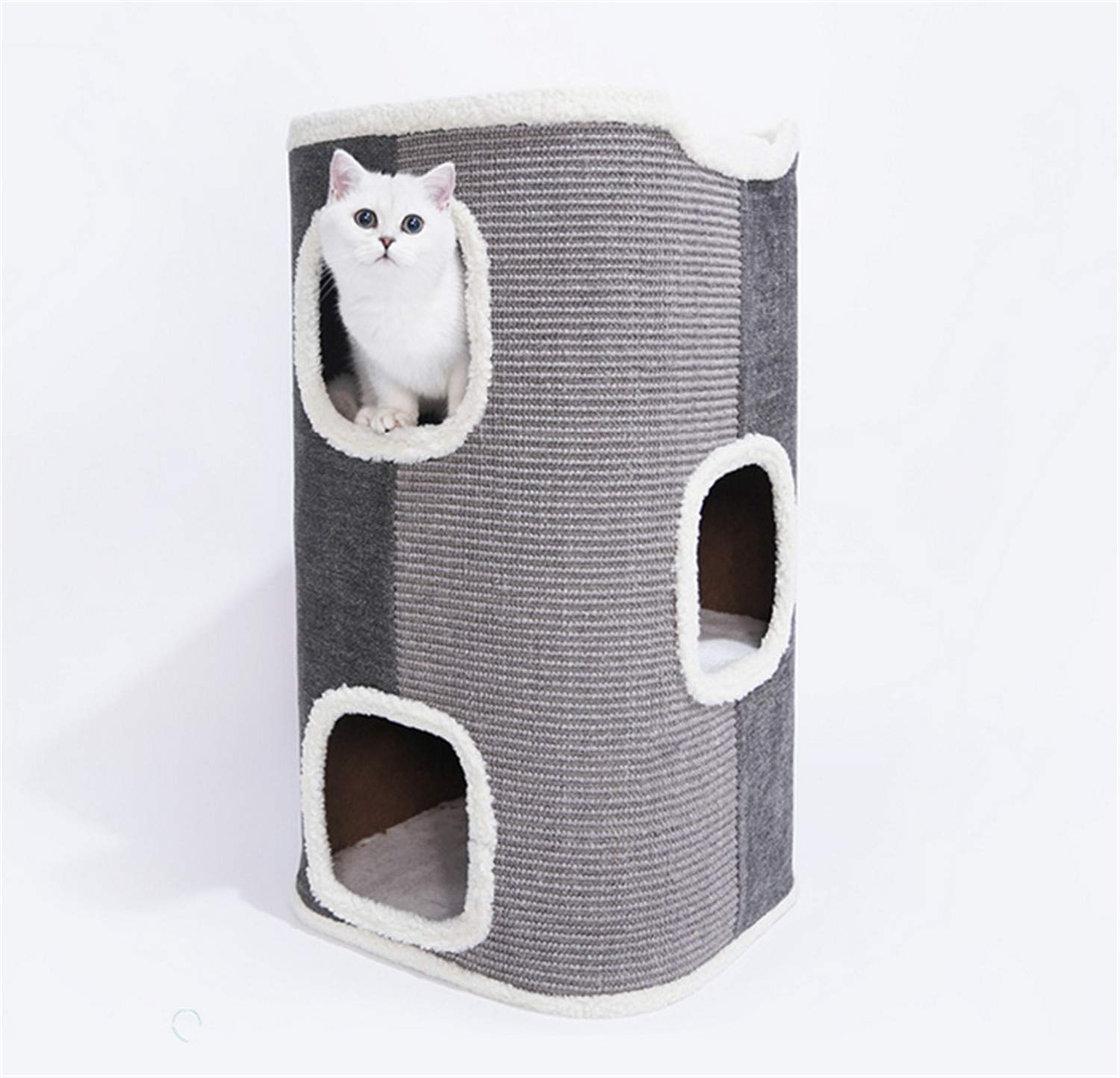 B UNIQUE-F Cat Tree Cat Scratch Board High End Combination Bracket Multifunctional Removable Oxford Cloth Pet Kitty Tower Activity Toy