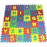 GaLon 36Pcs Puzzle Tapis bébé en Mousse Dalles en Mousse Tapis de Jeu Lettres Chiffres Peut Servir de Tapis Marcher à Quatre Pattes Tapis de Jeu pédagogique