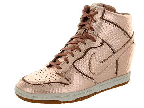separation shoes 0e521 0f29c Nike Women s Dunk Sky High Cut Out Premium - Metallic Red Bronze Light Bone-