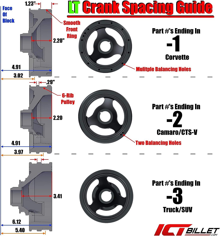 ICT Billet LT Gen V Swap C10 Truck Saginaw Power Steering /& R4 A//C Compressor Bracket Kit Air Conditioner Compatible With L83 L86 Gen 5 V RPO Code Engines 551118-3