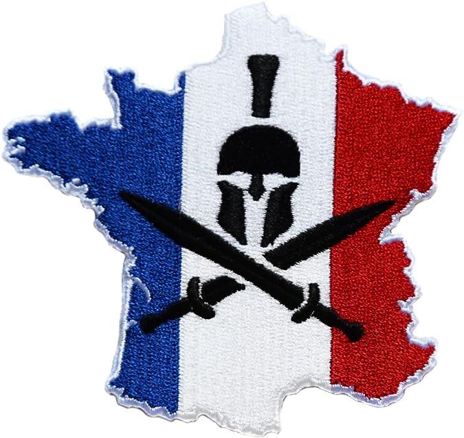 topt mili ecusson Insigne Kaki Drapeau France Francais Airsoft Paintball Army arm/ée 7x6,5cm