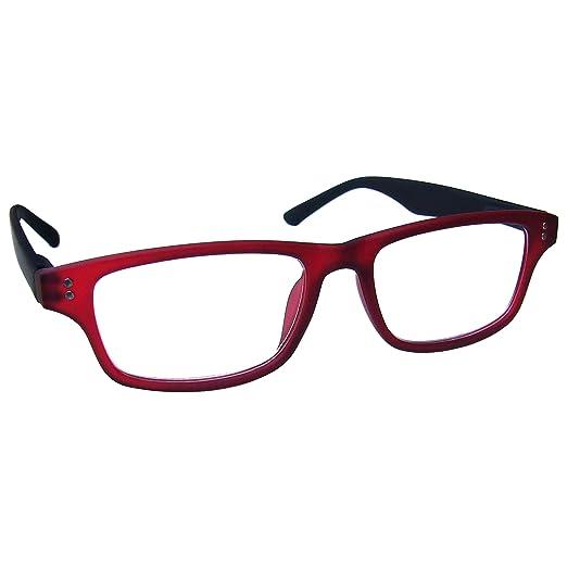 59 opinioni per UV Reader Gommato Rosso Nero Occhiali da Lettura Uomo Donna UVR033 Diottria
