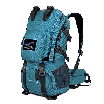 Mountaintop Mochila de senderismo para mujer y hombre, con protector impermeable, para Alpinismo Escalada Equitación, bolsa de viaje multifunción, turquesa, ...