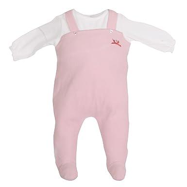58ee02d51 Amazon.com  Baby Girl 1 pc Infant Footie Jumper Velour Blanket ...