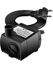 VicTsing 79.25GPH(300L/H) Submersible Water Pump Withstands 48hrs Dry Burning, Detachable , Cleanable Water Pump with 5.6Ft (1.7M) Power Cord for Aquarium, Pond, Fish Tank, Statuary Water Pump Hydroponics, No Noise