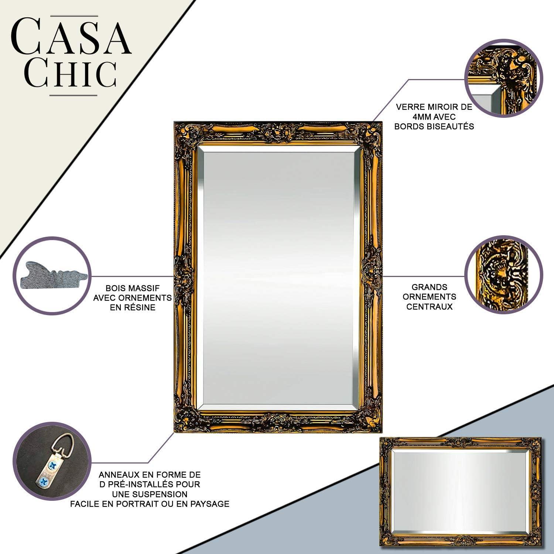 Oro Antico Barocco Fatto a Mano Legno Massello Specchio in Stile Shabby Chic 42x53 cm Rococo