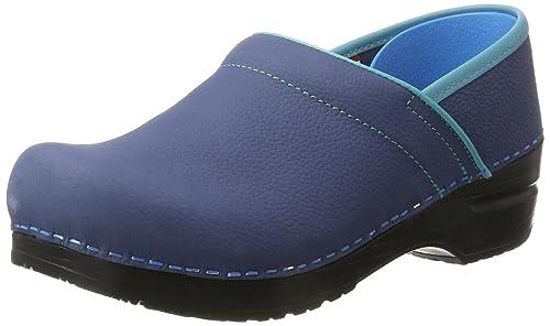 Sanita Original-Prfo.Electra closed Professional Electra - Zuecos de cuero para mujer, color azul, talla 41