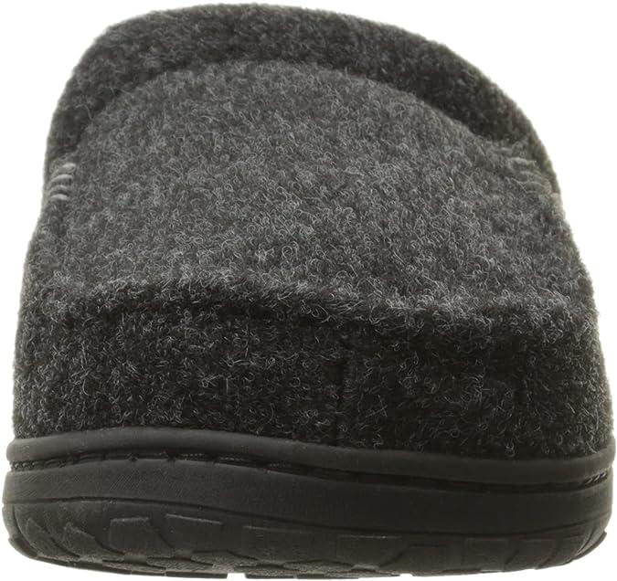 Mens Memory Foam Slippers S UK 6-7 Black or Brown Dearfoams Boxed Xmas Gift