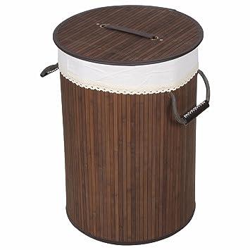 Bambus Waschekorb Waschesammler Geflecht Kleidung