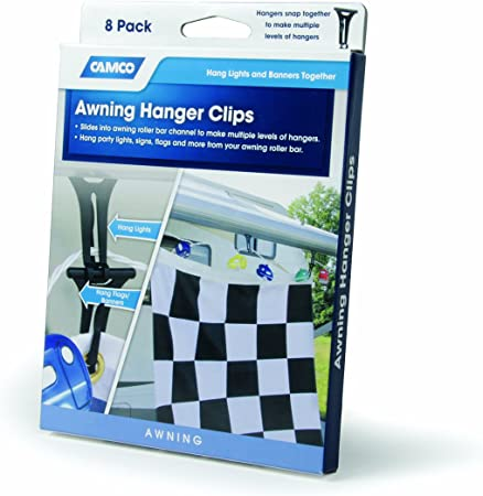 Amazon Com Camco 42720 Awning Hanger Clip Pack Of 8 5 8 Inch Automotive
