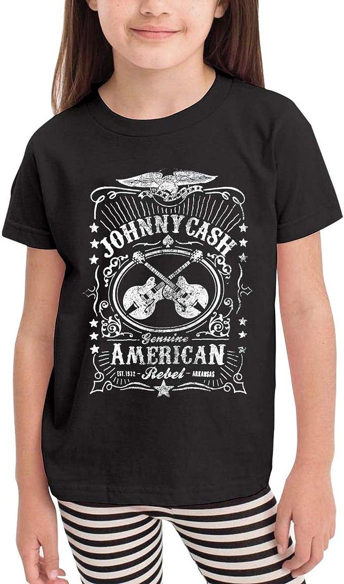 Shirt Johnny Cash Man in Black Graphic Shirt Black Children Boy Kids T