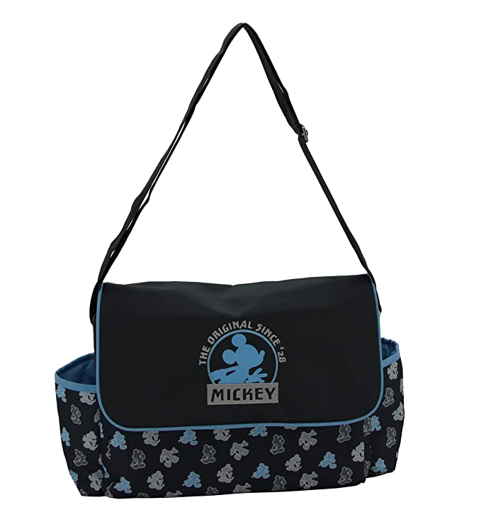 Disney Mickey Mouse Multi Pc Diaper Bag Set with Mickey MouseThe Original Print Includes Changing Pad, Pacifier Holder, Insulated Bottle Holder, Many Pockets