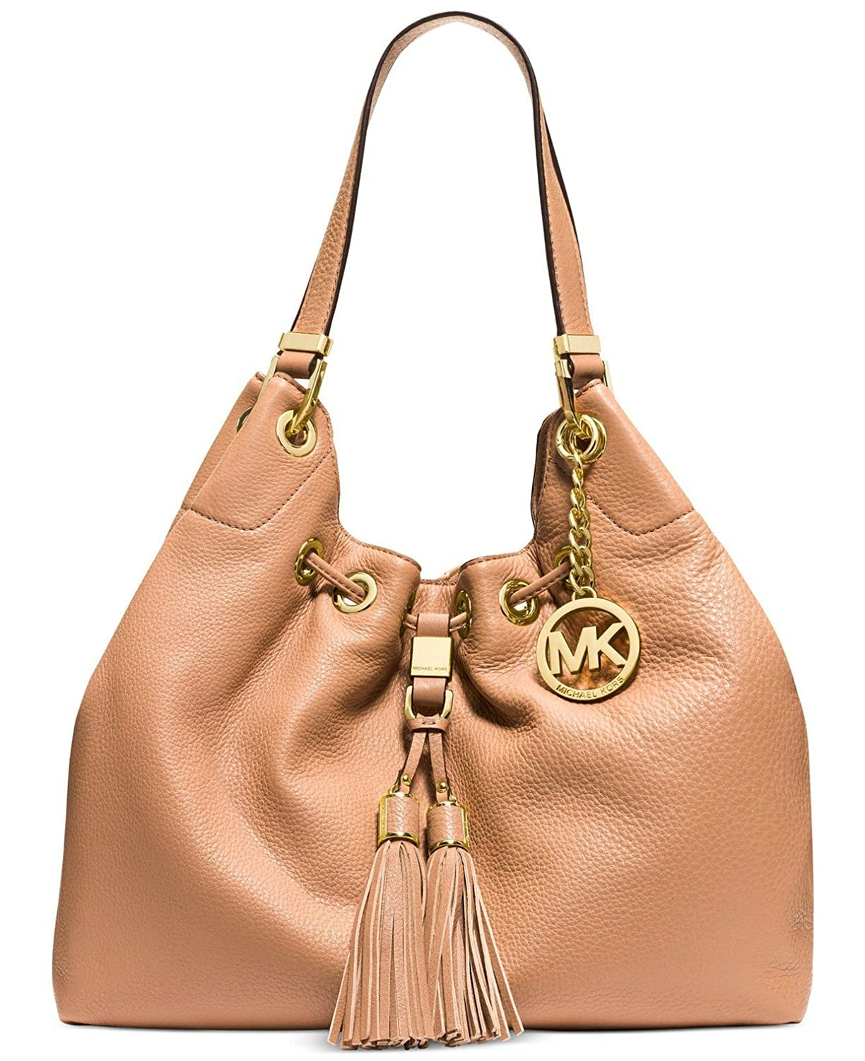 Michael Kors Large Camden Drawstring Leather Shoulder Bag (BLack): Handbags:  Amazon.com
