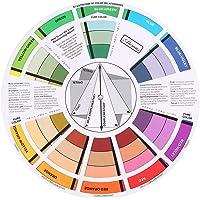 Creatieve kleurwiel kleuren mengen professionele handleidingen ronde tatoeage nagelpigment kleurwiel papierkaart levert…