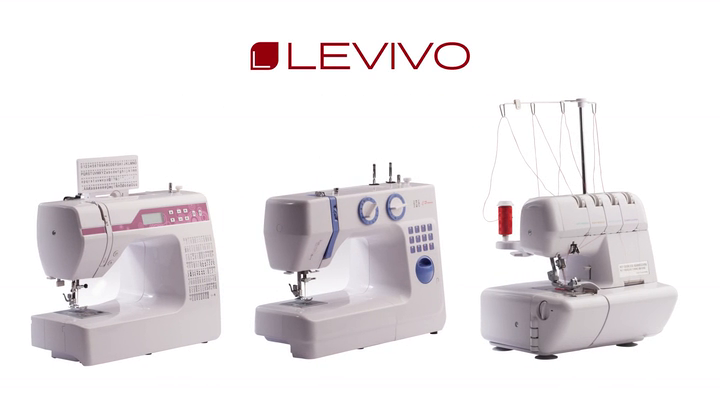 LEVIVO Máquina de Coser overlock NO1 de 4 Hilos, Aluminium, Blanco ...