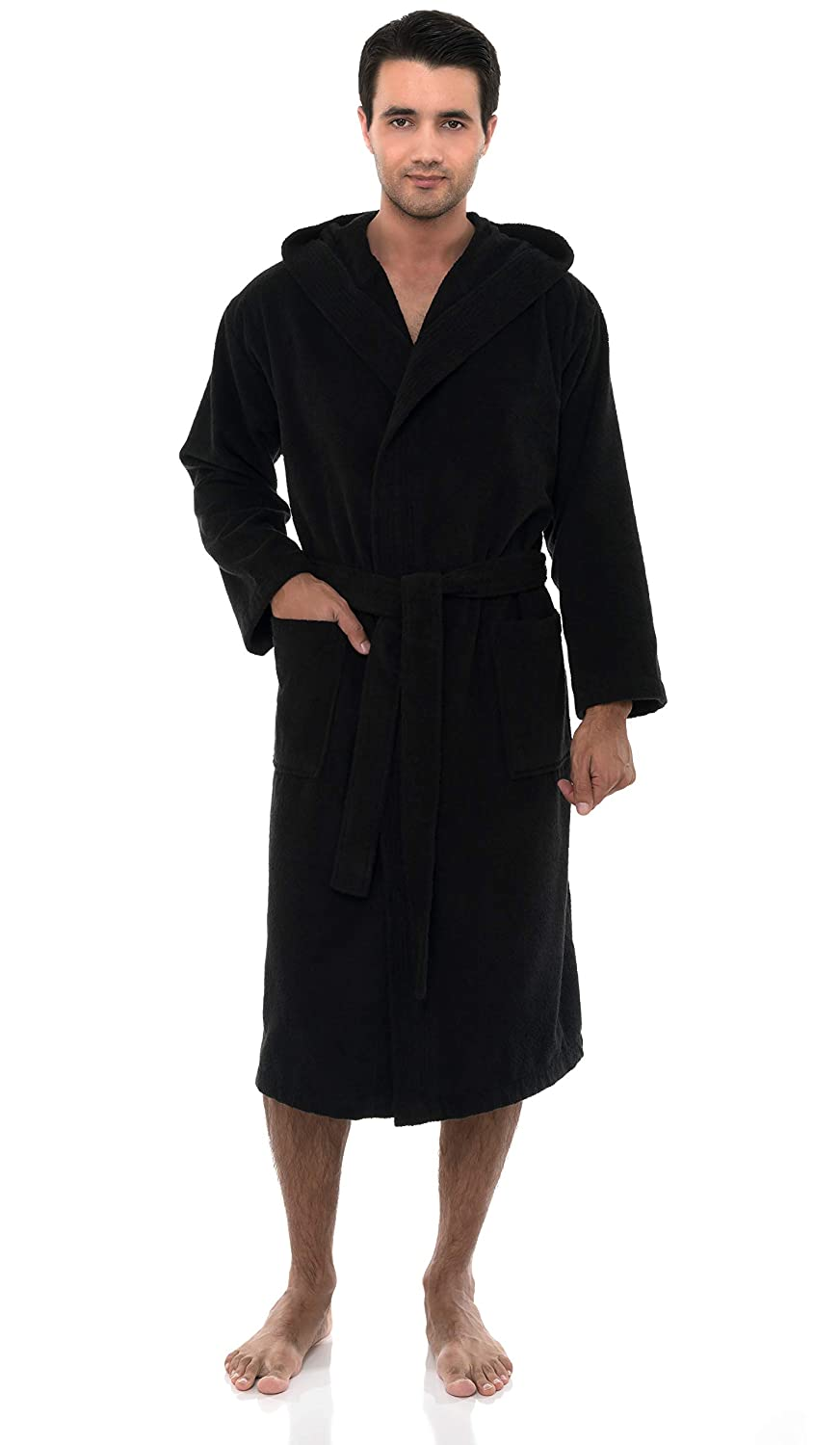 Turkish Cotton Hooded Terry Bathrobe TowelSelections Men/'s Robe