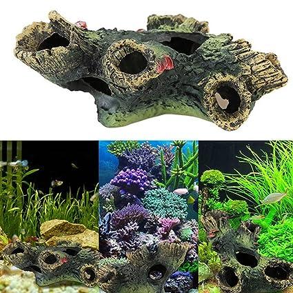 WFZ17 - Adorno de resina para acuario, diseño de pajarita artificial para pecera, acuático
