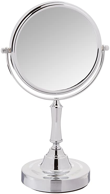Tabletop 5X Magnifying Vanity Mirror With Brushed Stainless Finish By  Finishing Touches