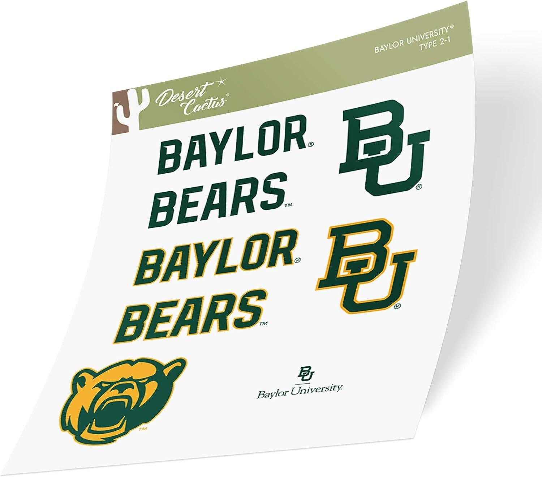 Baylor University Bears NCAA Sticker Vinyl Decal Laptop Water Bottle Car Scrapbook (Type 2 Sheet)