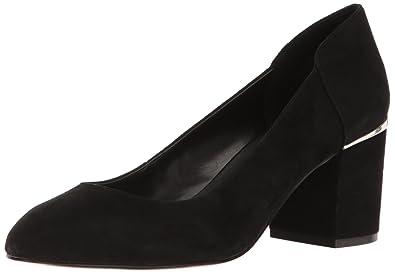 Nine West Women's Analia Suede Dress Pump, Black, ...