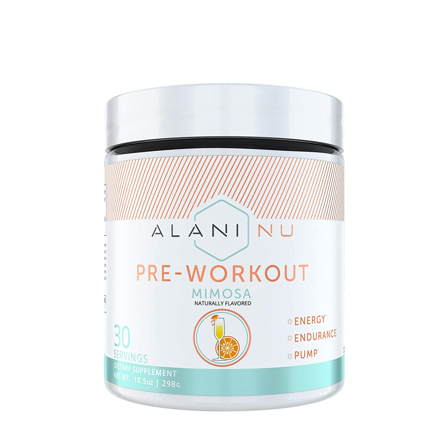 Alani Nu Pre Workout Powder w Caffeine, L-Theanine Beta Alanine, Mimosa, 30 Servings
