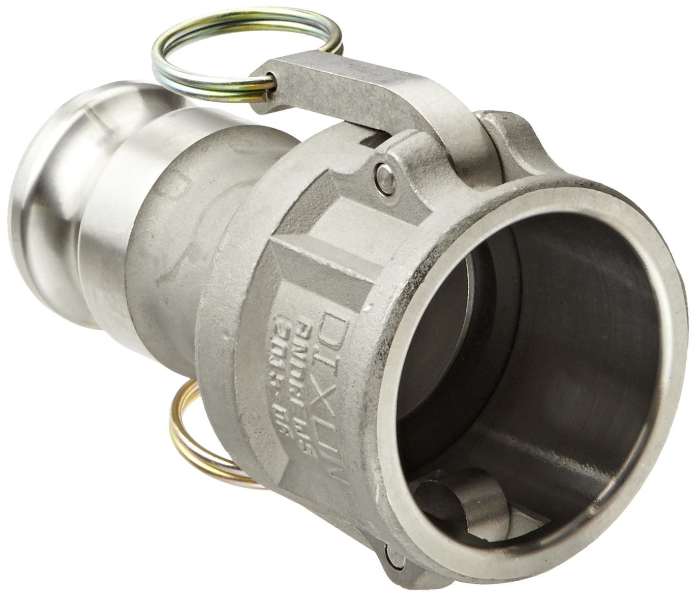 Dixon 2015-DA-SS Stainless Steel 316 Cam and Groove Reducing Hose Fitting, 2'' Socket x 1-1/2'' Plug