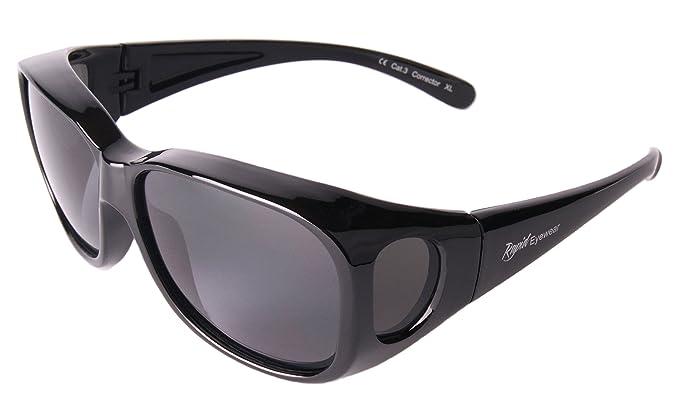 Rapid Eyewear Negro SOBRE GAFAS DE SOL encima de graduadas: polarizadas. Talla mediano-