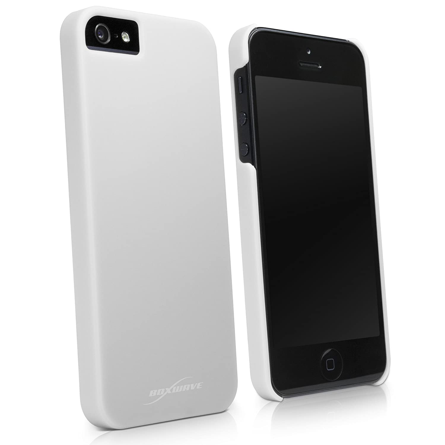 iPhone 5 Case, BoxWave [Minimus Case] Slim Fit, Protective PolyCarbonate Cover for Apple iPhone 5, SE, 5s - Winter White