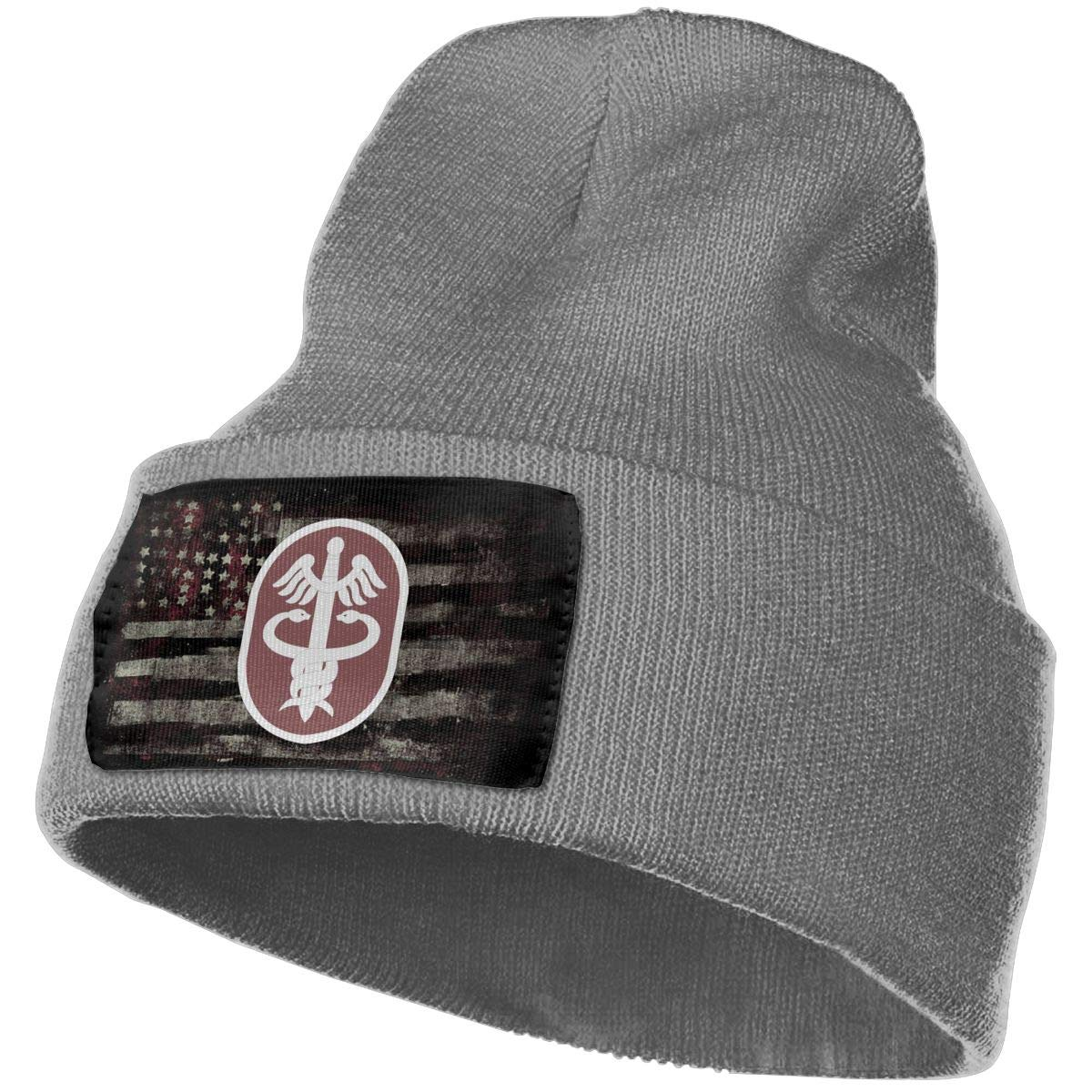 US Army Medical Command Mens Beanie Cap Skull Cap Winter Warm Knitting Hats.