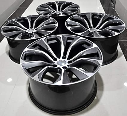 Amazon Com 20 Inch Staggered Black Wheels Rims Full Set Of 4 Fit