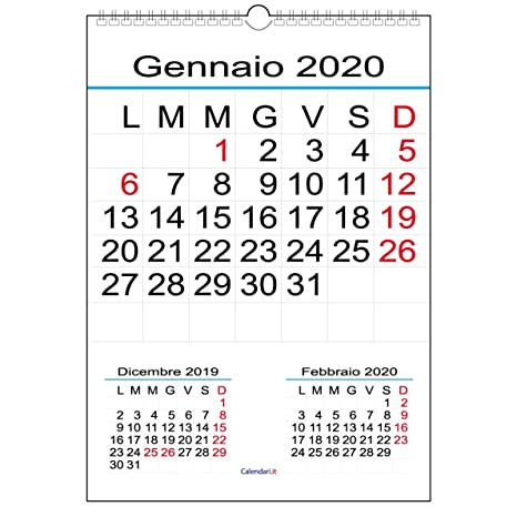 Calendario 2020 Da Parete.Calendario 2020 Da Muro Numeri Grandi Amazon It