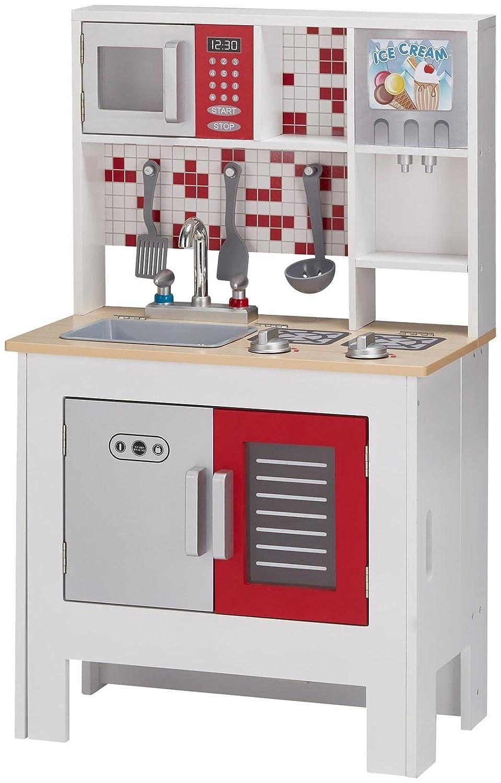 White Playset KYW-12047A Big Foldable Kitchen Teamson Kids