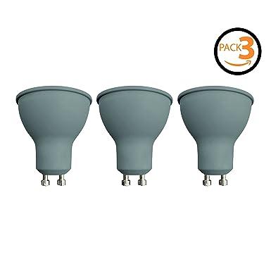 Pack de 3 bombillas LED Spotlight SevenOn LED 54893, 7.5W equivalente a 50W, casquillo GU10, 120º, 540 lúmenes, 3.000K, blanco cálido, no regulable: ...
