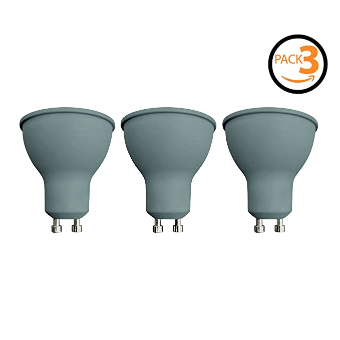 Pack de 3 bombillas LED Spotlight SevenOn LED 54893, 7.5W equivalente a 50W, casquillo GU10, 120º, 540 lúmenes, 3.000K, blanco cálido, no regulable: ...