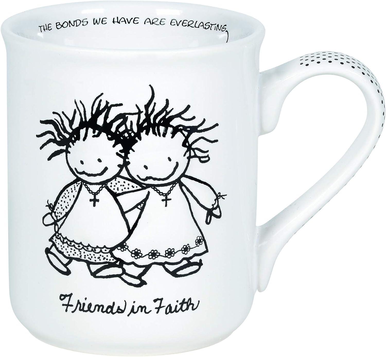 Enesco Children of the Inner Light Friends in Faith Coffee Mug, 16 Ounce, White