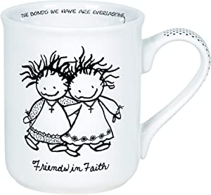 Enesco Children of the Inner Light Friends in Faith Coffee Mug, 16 Ounce, White