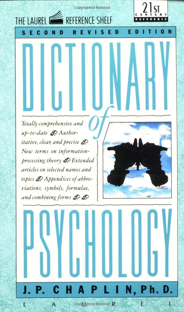 Dictionary of psychology laurel book jp chaplin 9780440319252 dictionary of psychology laurel book jp chaplin 9780440319252 amazon books fandeluxe Image collections