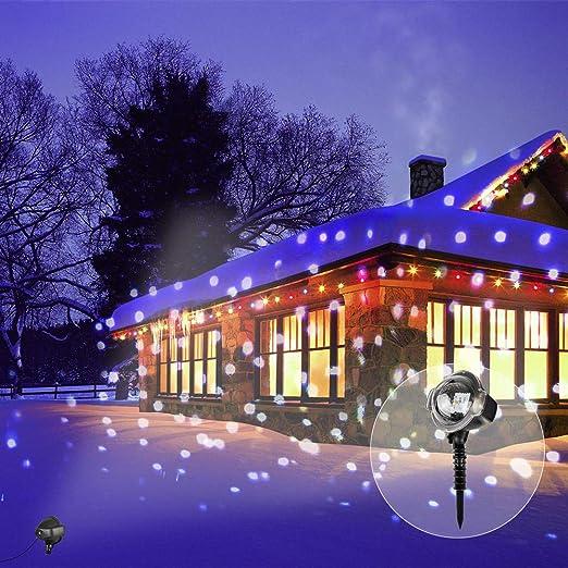 Luces de Proyección de Navidad con Control Remoto Copos de ...
