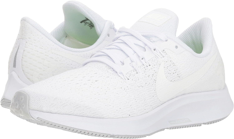 Nike Air Zoom Pegasus 35, hardloopschoenen voor dames Meerkleurig (White/Summit White/Pure Platinum 100)
