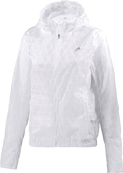 Mierda autómata horno  adidas Damen Run Transparent Jacke, White, 46: Amazon.de: Bekleidung
