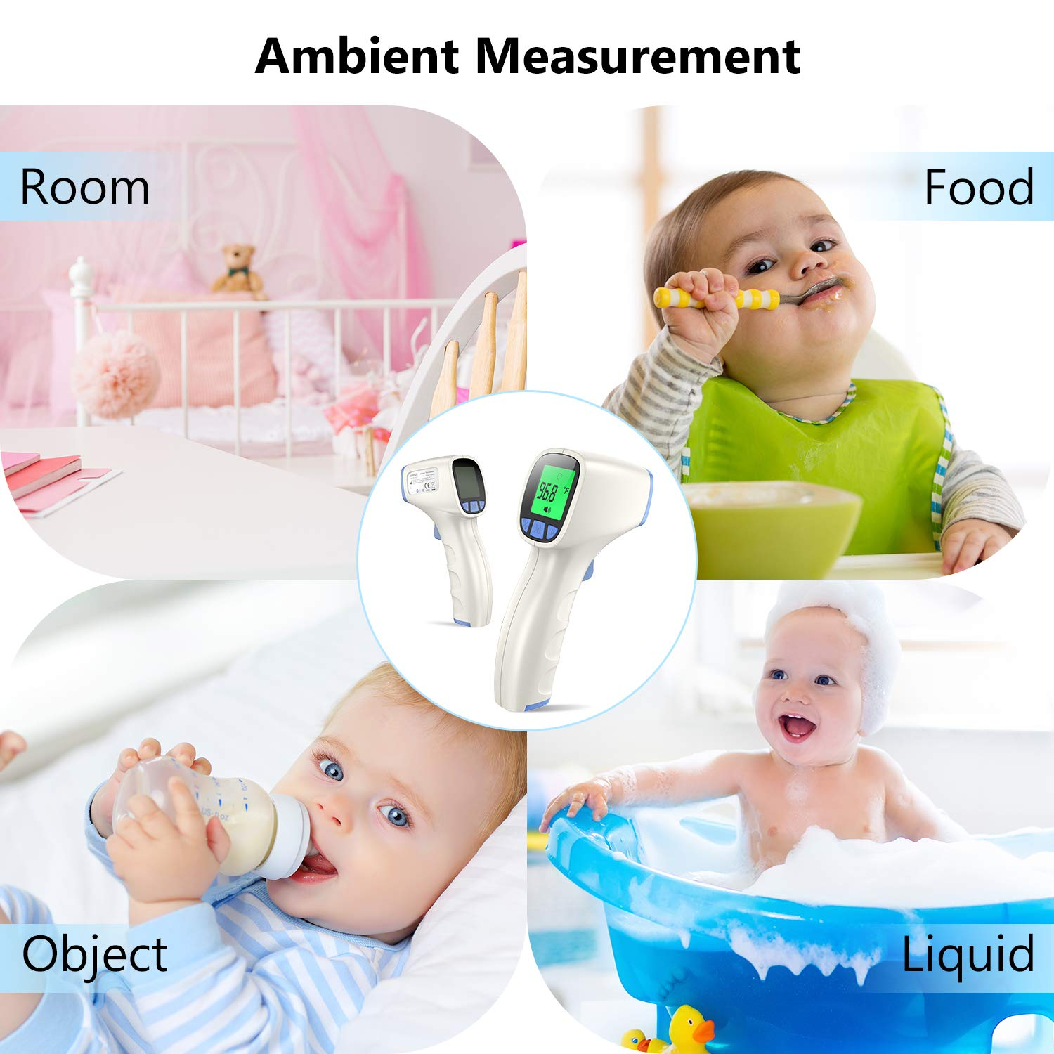 Thermometers Baby Apple Green Baby Thermometer Non Contact