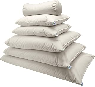 "product image for Bean Products Dust Mite Proof Organic Cotton Pillows - Organic Millet Fill - 4"" Neck Roll"