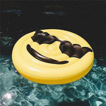 Fila flotante Cama flotante Inflable Cara sonriente Peacheye Jugar ...